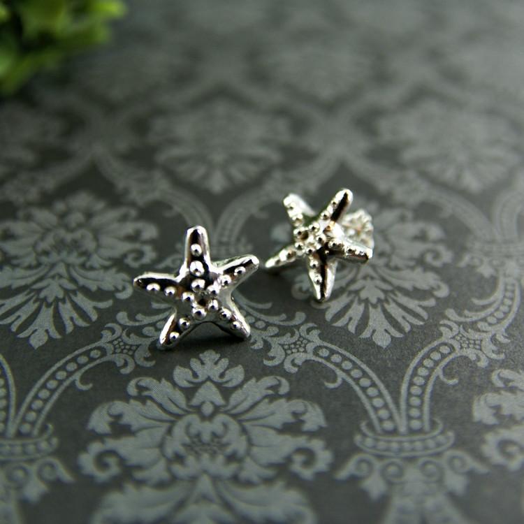 Petites boucles d'oreilles étoiles fixes
