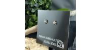 Mini boucles d'oreilles étoiles fixes