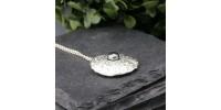 Grand pendentif Oursin avec perle noire