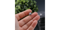 Boucles d'oreilles Triangle perles noires