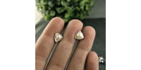 Boucles d'oreilles Triangle perles blanches